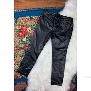BLANK NYC Black Leather Skinny Pants